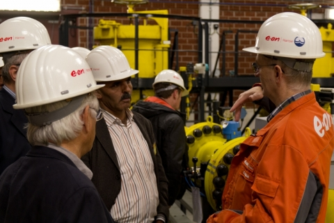 Site visit at E.ON Hanse gas storage and dispatching center Hamburg Reitbrook