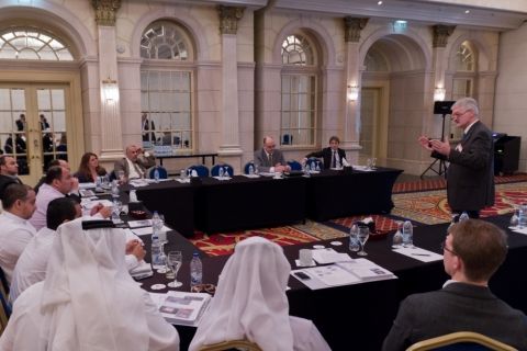Discussion during the Pipeline Technology Seminar (Middle East) in Dubai
