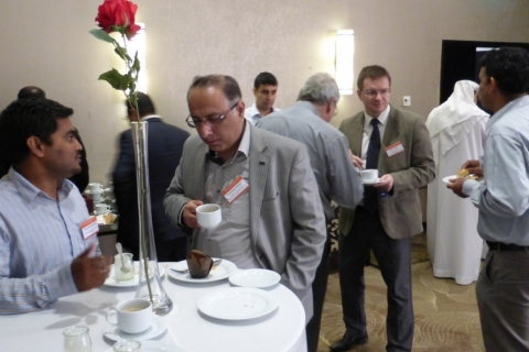 Coffee Break Discussions during Pipeline Technology Seminar (Middle East) in Abu Dhabi
